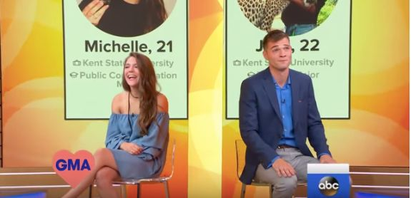 Michelle Arendas and Josh Avsec messaged each other sporadically for three years on Tinder before finally...