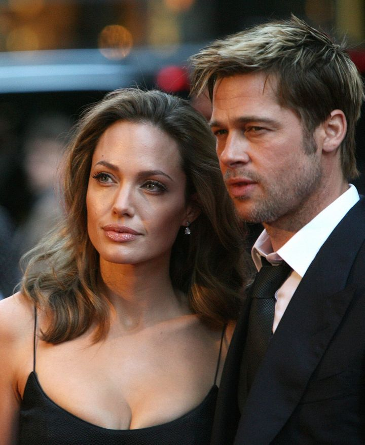 Angelina and Brad in 2007, three years after they first got together