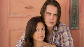 FRIDAY NIGHT LIGHTS -- Season 1 -- Pictured: Taylor Kitsch as Tim Riggins, Minka Kelly as Lyla Garrity  (Photo by Virginia Sherwood/NBC/NBCU Photo Bank via Getty Images)