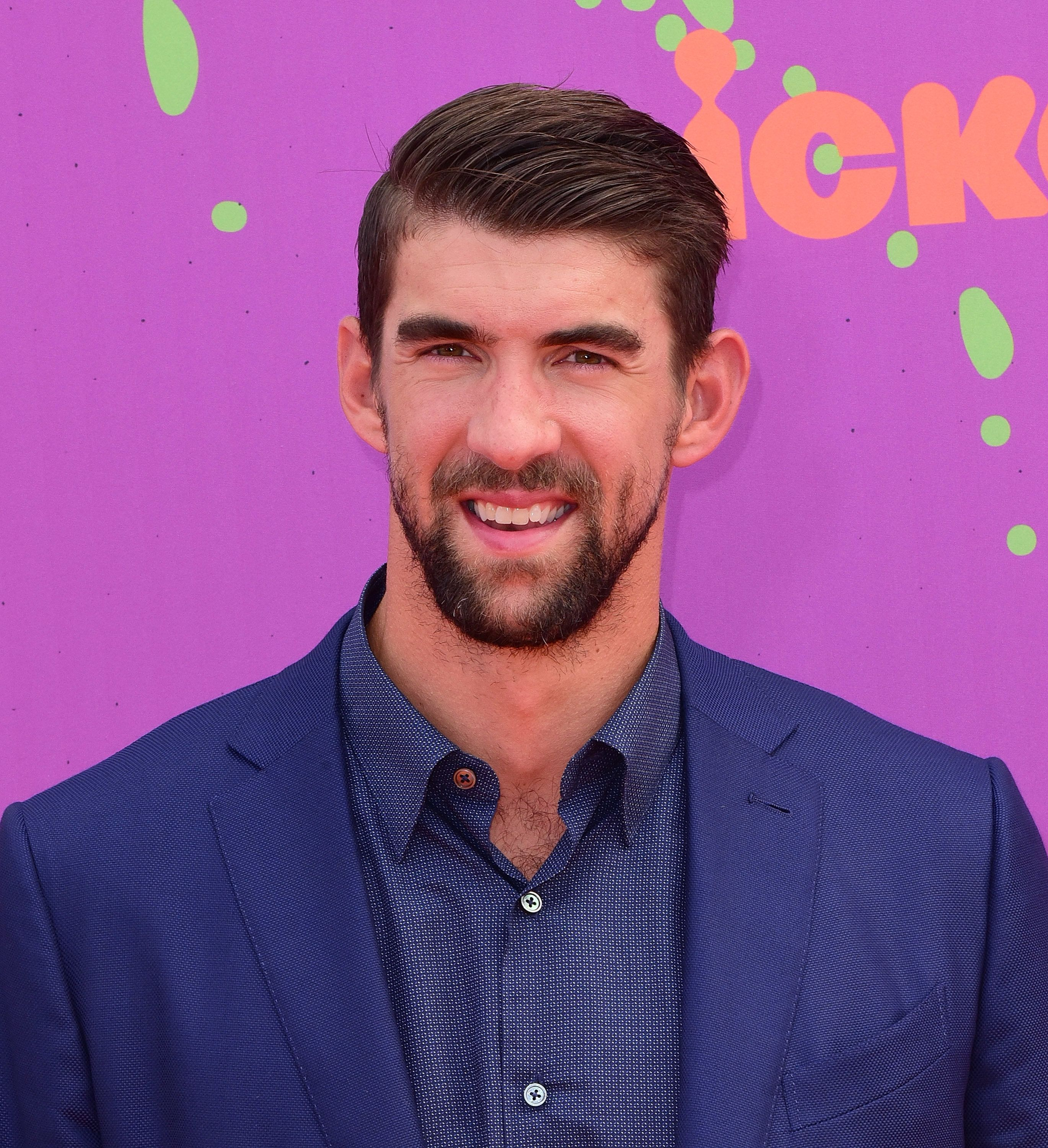 LOS ANGELES, CA - JULY 13:  Olympic Swimmer Michael Phelps attends the 2017 Nickelodeon Kids' Choice Sports Awards at Pauley Pavilion on July 13, 2017 in Los Angeles, California.  (Photo by C Flanigan/Getty Images)