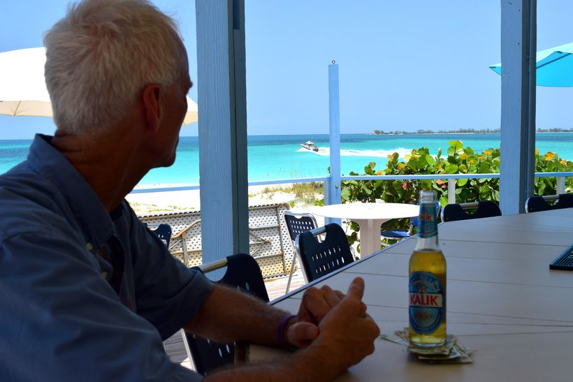 a chilled Kalik, incredible scenery and nowhere to go. This is why you go to the Bahamas