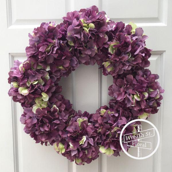 """<strong><a href=""""https://www.etsy.com/listing/519667707/hydrangea-wreath-purple-wreath-spring?ga_order=most_relevant&ga_s"""