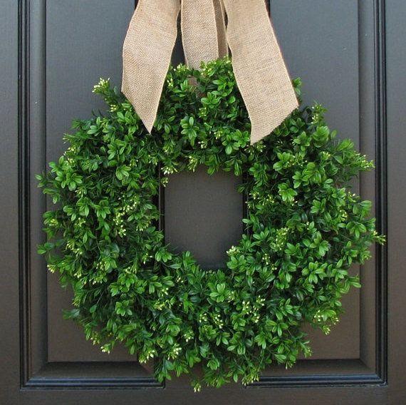 "<strong><a href=""https://www.etsy.com/listing/97704528/summer-boxwood-wreath-boxwood-wreath?ga_order=most_relevant&ga_sea"