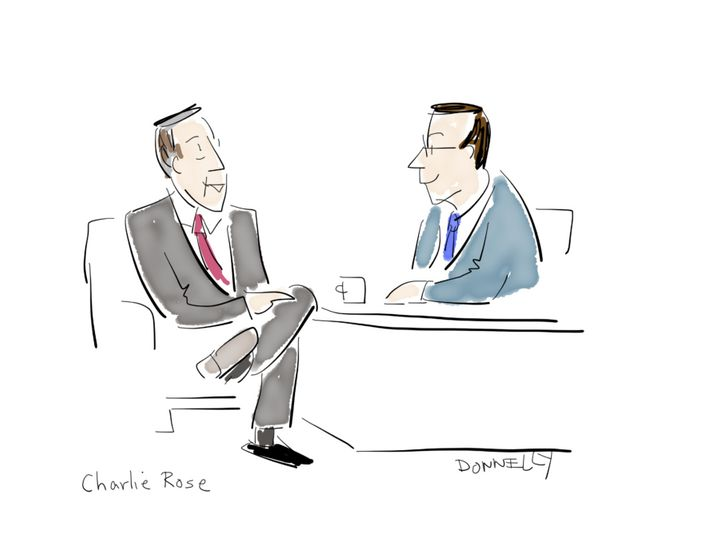 Colbert with Charlie Rose.