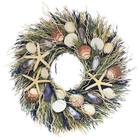 "<a href=""https://www.wayfair.com/Floral-Treasure-Nantucket-22-Wreath-FLOR5474.html"" target=""_blank""><strong>Shop it here for"