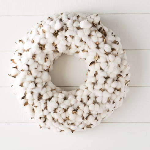 """<strong><a href=""""https://www.wayfair.com/Faux-Cotton-Burst-Wreath-LRFY5306.html"""" target=""""_blank"""">Shop it here for $83.</a></s"""