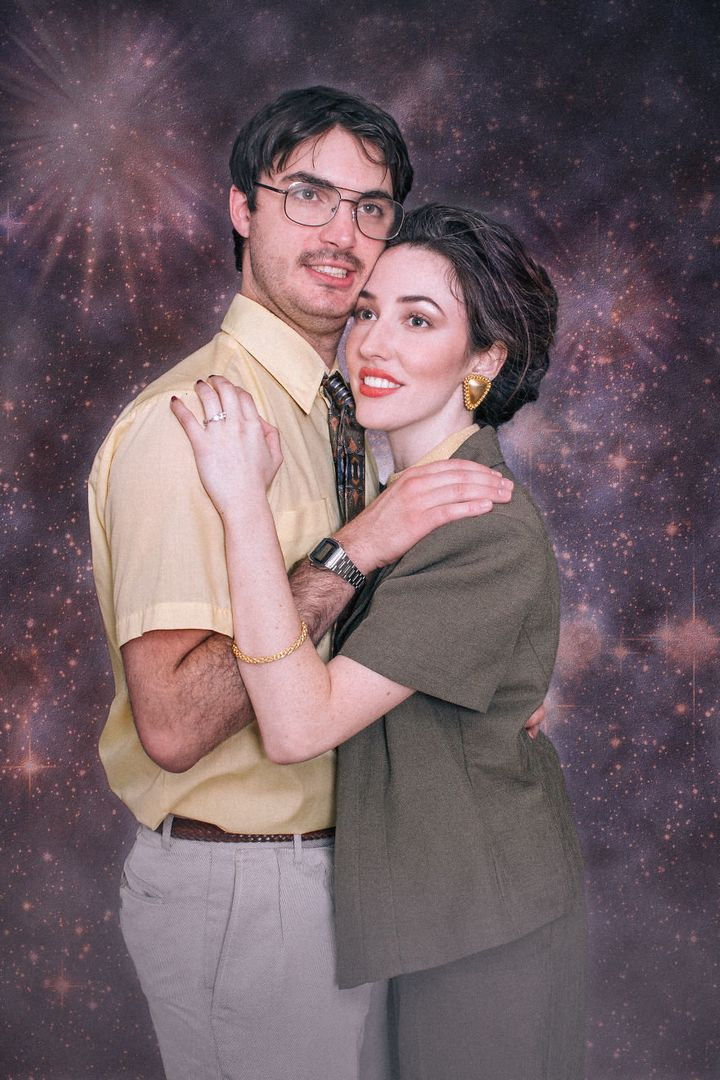 The couple scavenged local thrift shops for their on-point outfits and accessories. They spent a whopping $30 for everything.