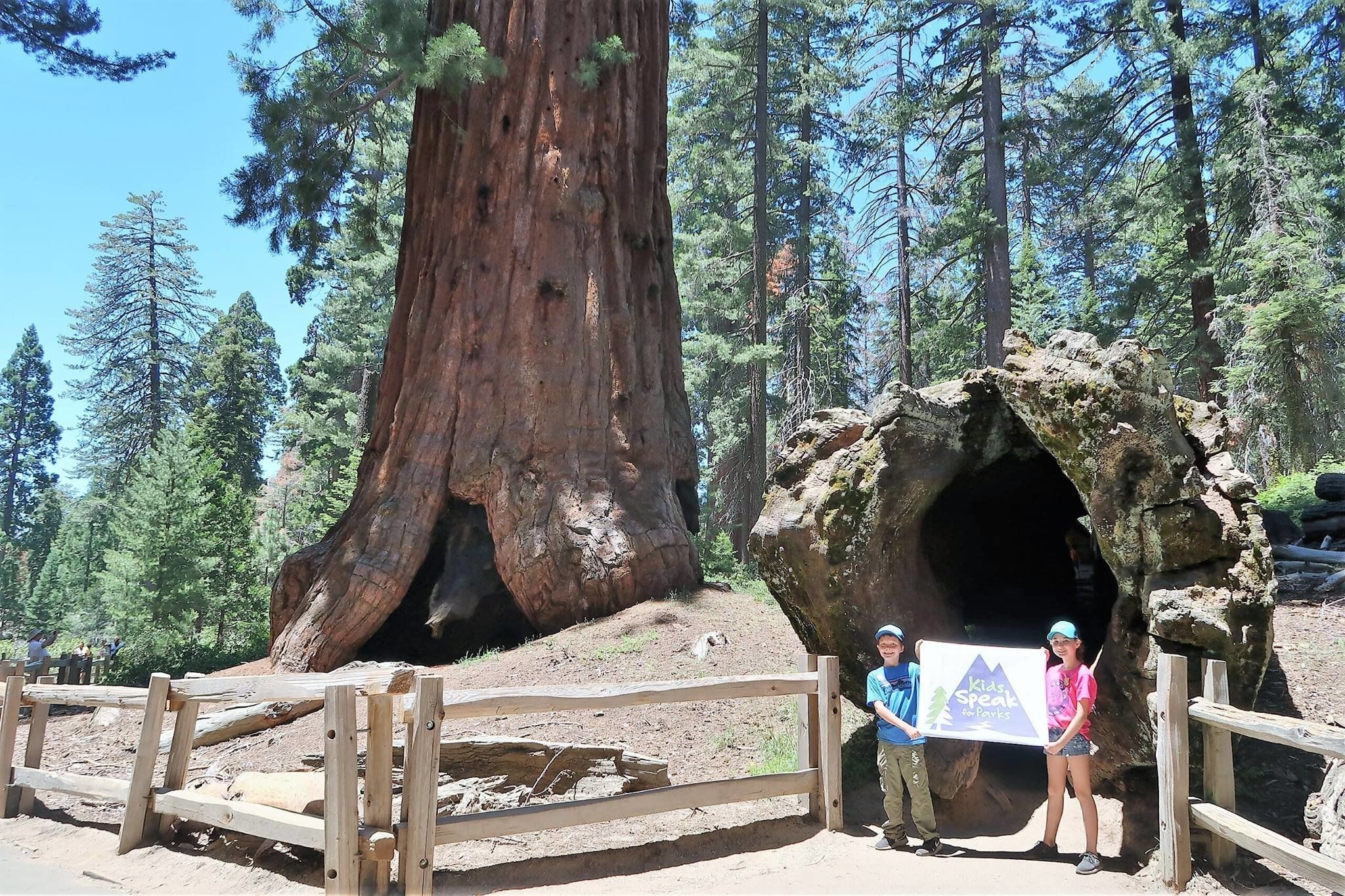 Robbie Bond and his friendLily May Stuart ona recent trip to California's Giant Sequoia National Monument, one of