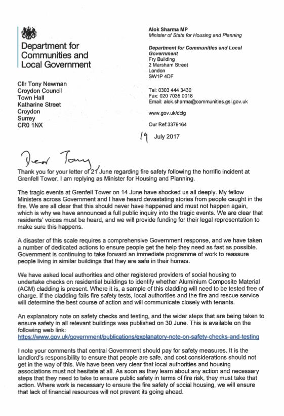 'Clueless' Sajid Javid Did Not Know His Minister Had Replied To Councils Asking For Fire Safety