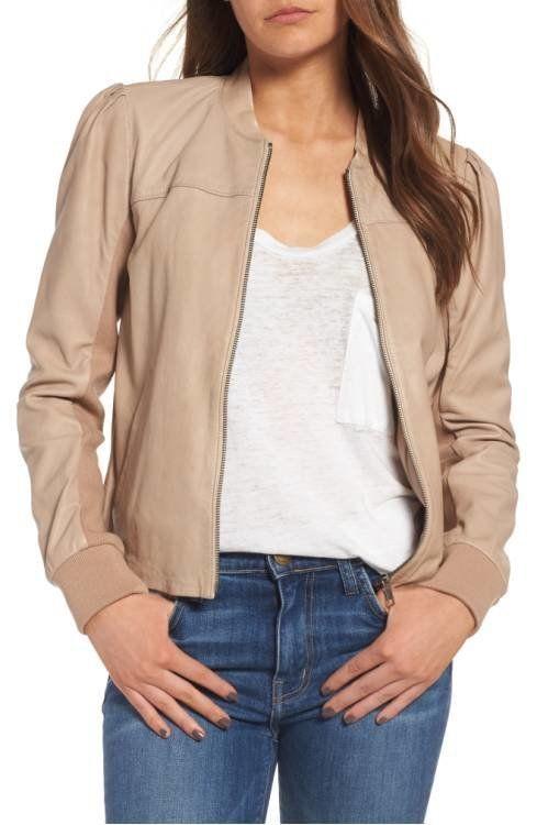 "<a href=""http://shop.nordstrom.com/s/hinge-shrunken-leather-bomber-jacket/4551900?origin=category-personalizedsort&fashio"