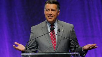 Nevada Governor Brian Sandoval, newly appointed chairman of the National Governors Association, speaks during their summer meeting in Providence, Rhode Island, U.S., July 15, 2017. REUTERS/Brian Snyder