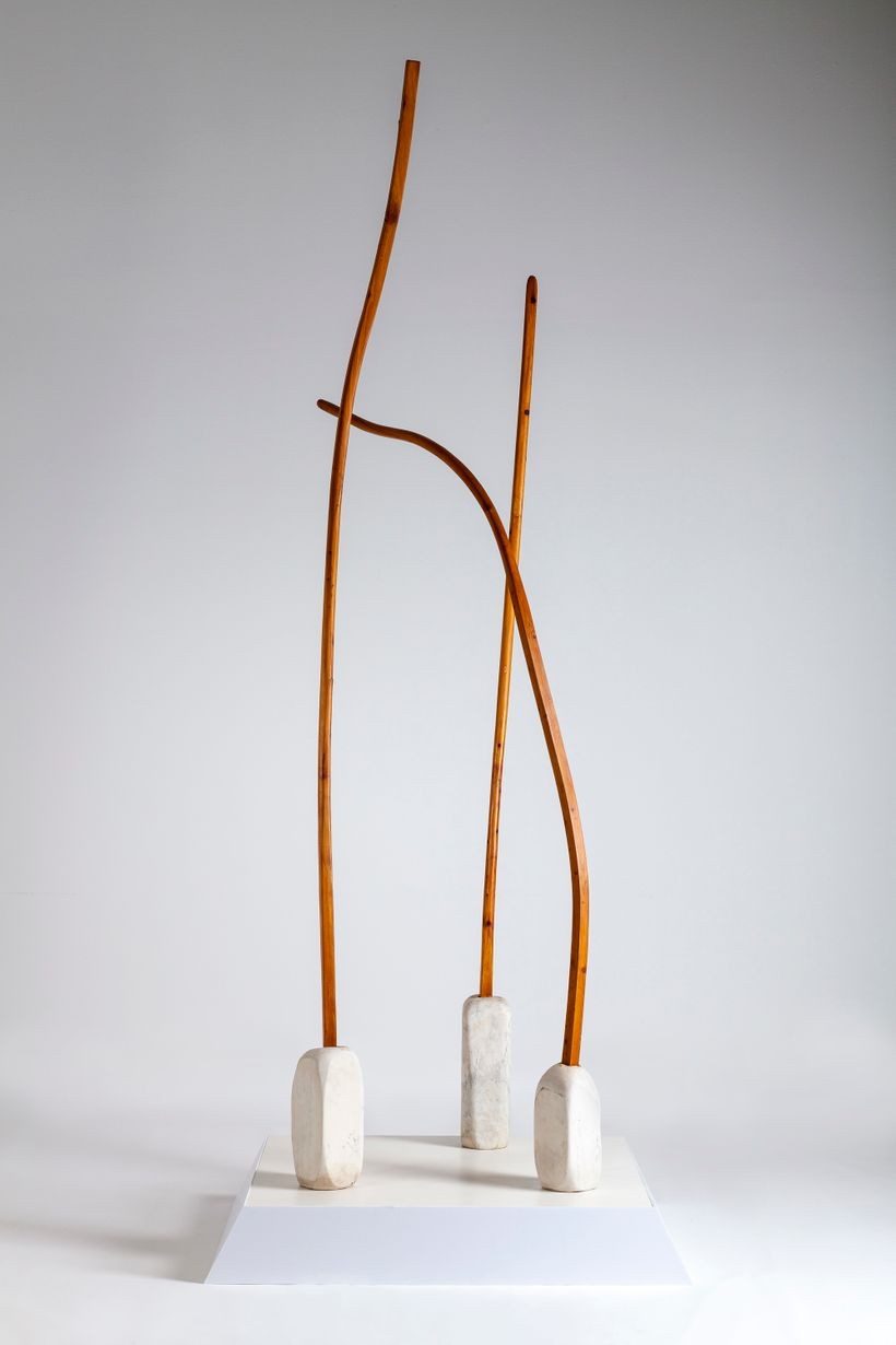 """Thaddeus G. Mosley, """"Georgia Gate,"""" 1975, wood and marble, The Carnegie Museum of Art"""