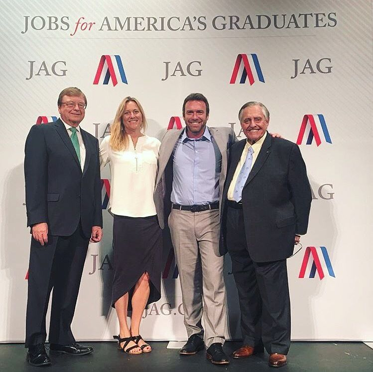 <em>Co-founders of DreamJobbing at the JAG National Training Seminar with Ken Smith (CEO & Co-founder of JAG) & Jim K