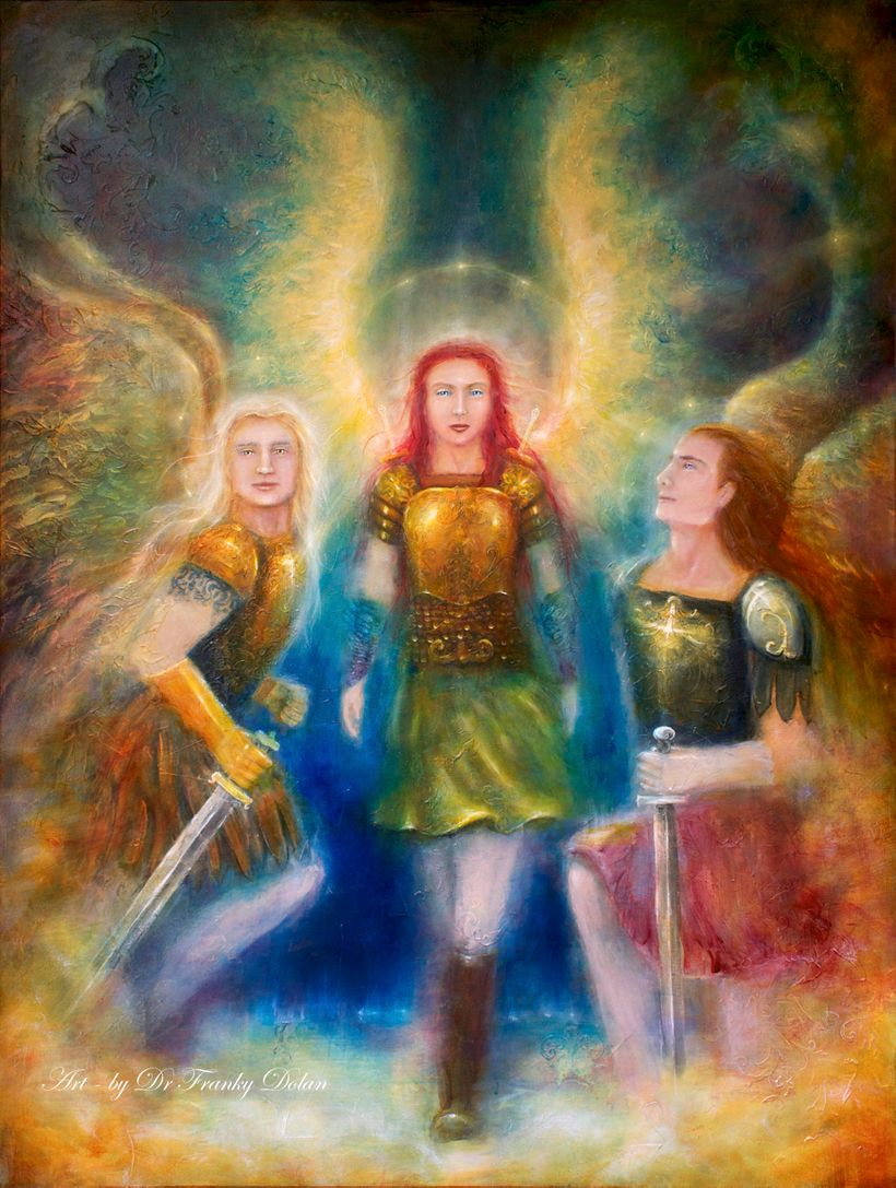 """Painting by Dr Franky Dolan ~ <a rel=""""nofollow"""" href=""""https://www.etsy.com/listing/546845957/angel-love-warriors-canvas-hand?"""