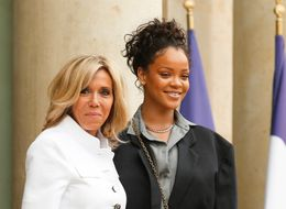 Only Rihanna Could Pull Off This Oversized Suit To Meet With France's President And First Lady
