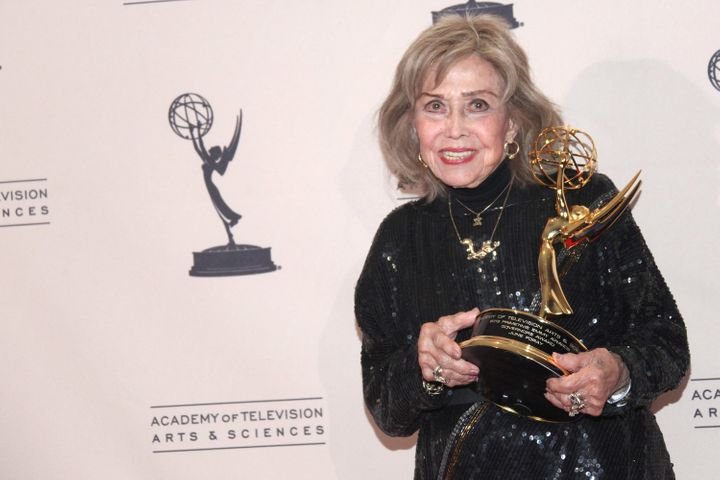 June Foray, pictured in 2013, voiced Rocky well into this century.