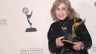 LOS ANGELES, CA - SEPTEMBER 15:  Voice actress June Foray attends the 2013 Creative Arts Emmy Awards Ceremony at the Nokia Theatre L.A. Live on September 15, 2013 in Los Angeles, California.  (Photo by Tommaso Boddi/WireImage)