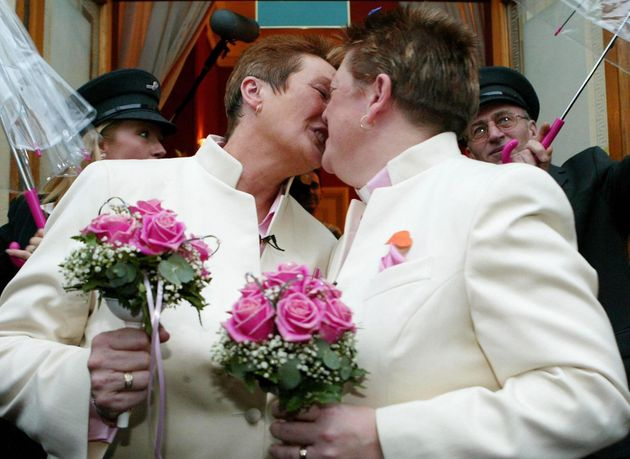 One of the first couples in the UK to enter a civil partnership