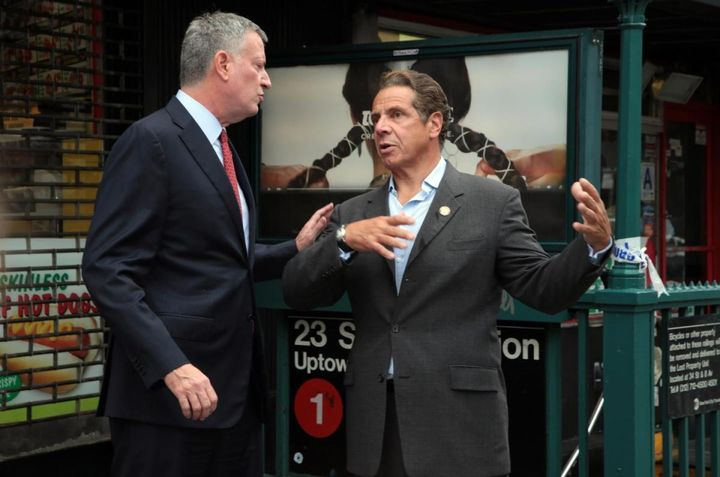The Nebbish, Mayor Bill de Blasio, and the Paskudnyak, Governor Andrew Cuomo, are constantly at odds.