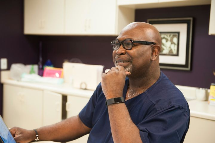 Dr. Willie Parker, one of Alabama's few remaining abortion providers, works in the Huntsville clinic.