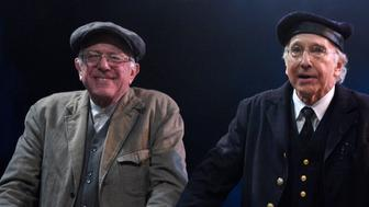 SATURDAY NIGHT LIVE -- 'Larry David' Episode 1695 -- Pictured: (l-r) Senator Bernie Sanders and Larry David during the 'Steam Ship' sketch on February 6, 2016 -- (Photo by: Dana Edelson/NBC/NBCU Photo Bank via Getty Images)