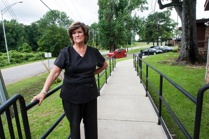 Gloria Gray, owner of the West Alabama Women's Center, stands outside her Tuscaloosa clinic.