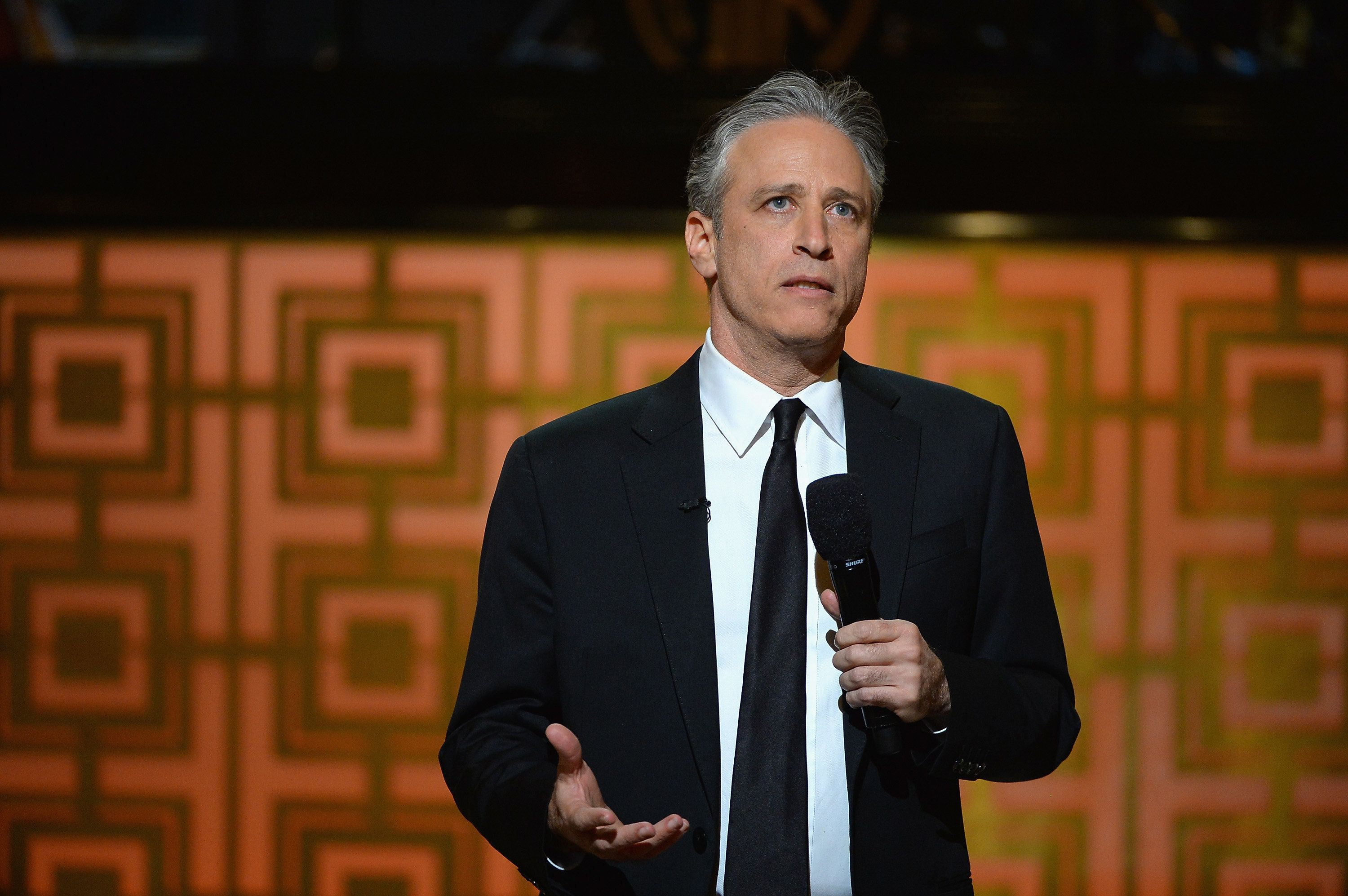 NEW YORK, NY - MAY 06:  Jon Stewart speaks onstage at Spike TV's 'Don Rickles: One Night Only' on May 6, 2014 in New York City.  (Photo by Theo Wargo/Getty Images for Spike TV)
