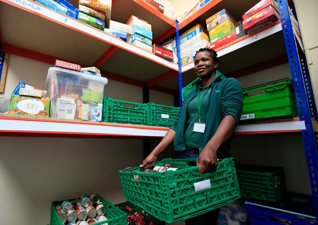 Centre manager Michele Lawrence at the Trussell Trust Brent Foodbank, Neasden,