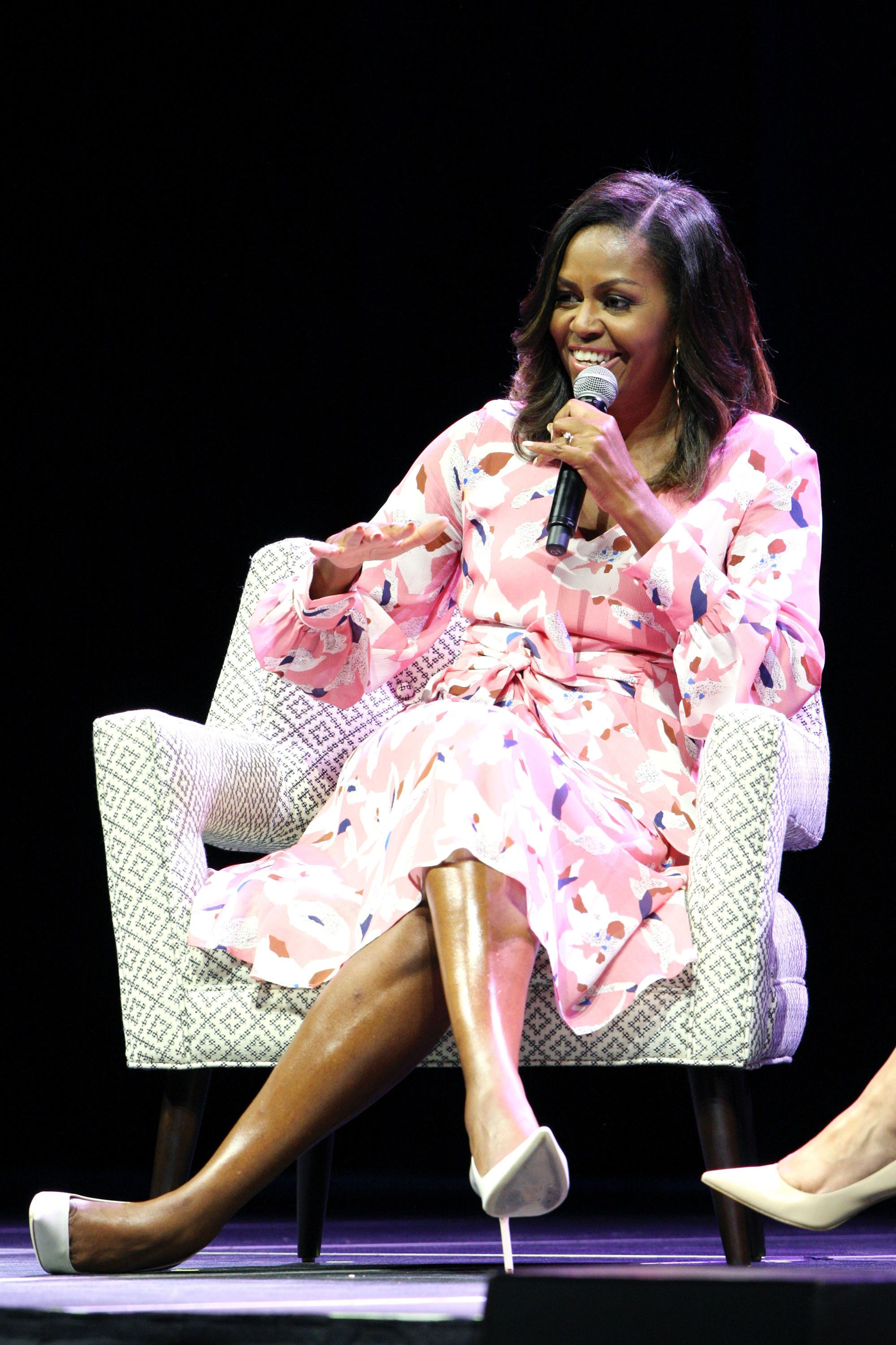 Michelle Obama in Tanya Taylor.