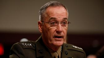 Chairman of the Joint Chiefs of Staff Gen. Joseph Dunford testifies before the Senate Armed Services Committee on Capitol Hill in Washington, D.C., U.S., June 13, 2017. REUTERS/Aaron P. Bernstein