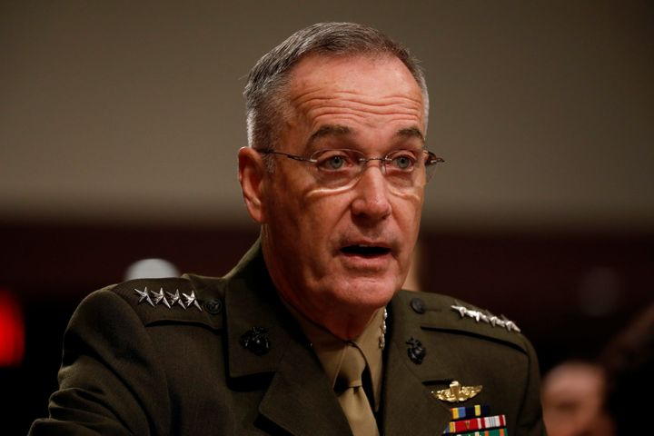 Chairman of the Joint Chiefs of Staff Gen. Joseph Dunford testifies before the Senate Armed Services Committee on Capitol Hil