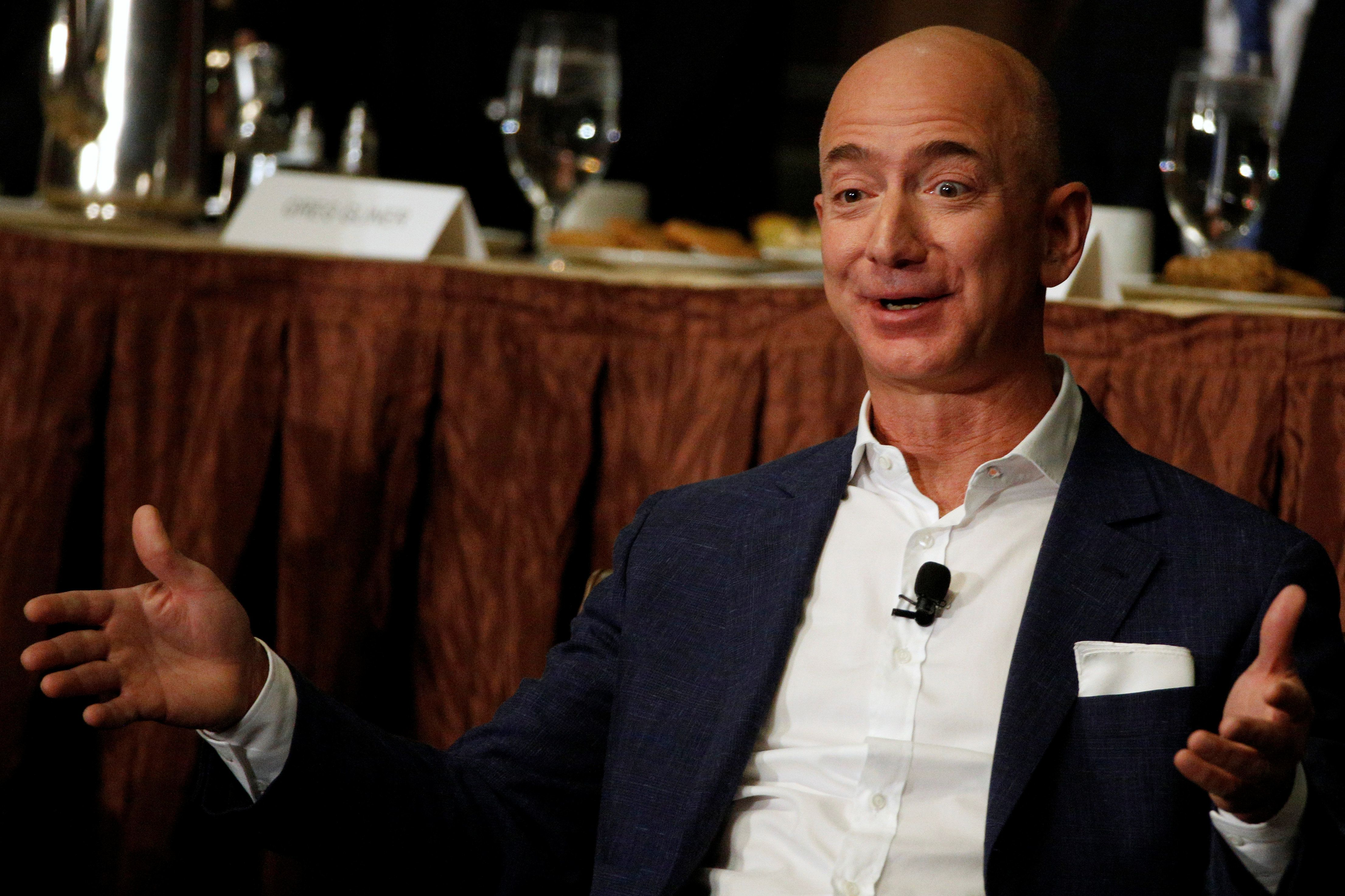 Jeff Bezos had leaped past Bill Gates for a while on Thursday.