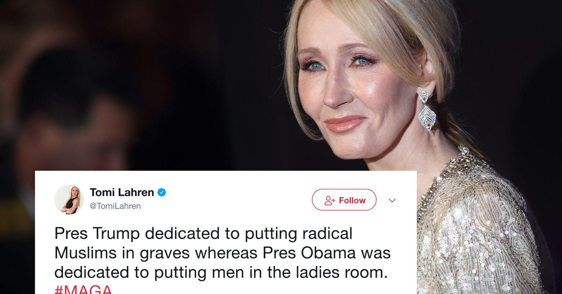 Tomi Lahren Uses Trans Ban To Slam Obama. J.K. Rowling Wasn't Having It.