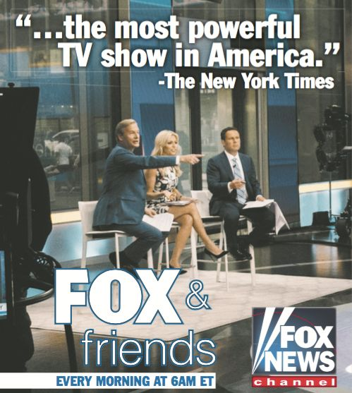 Trump Touts 'Failing' NYT's Praise of 'Fox & Friends '
