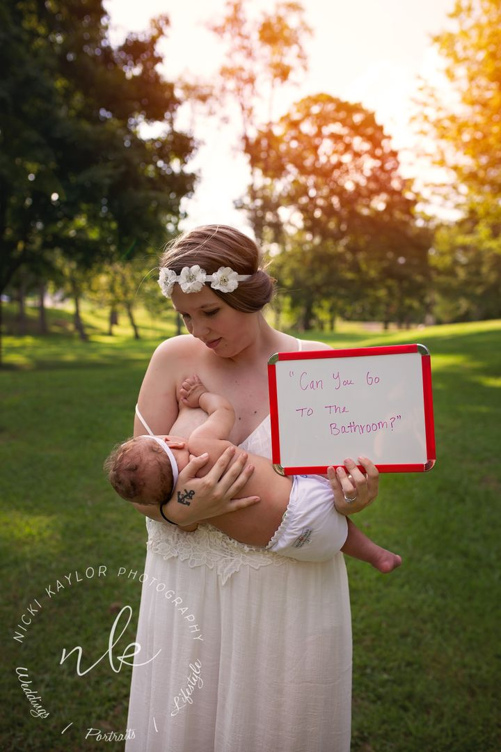 """Nicki Kaylor gathered a group of breastfeeding mothers for her """"Latched With Love"""" series."""