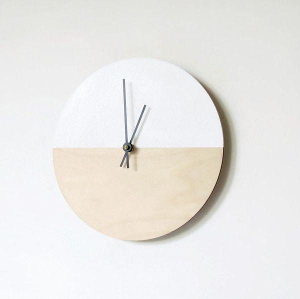 """This wood wall clock will add a clean, crisp touch to your home decor."" <a href=""https://www.etsy.com/listing/242401485/wall"
