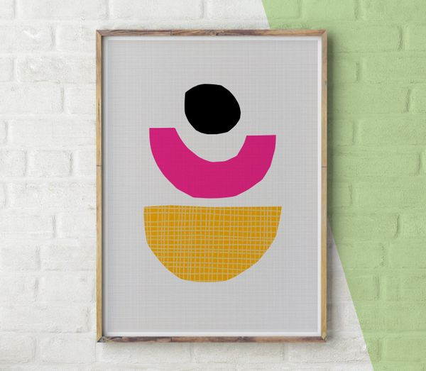 """This wall art will create a sense of balance and add a pop of color to your current decor."" <a href=""https://www.etsy.c"