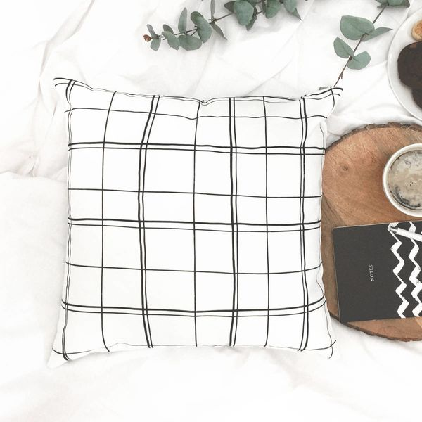 """Liven up your home with this Scandinavian style pillow cover. The original artwork has been digitally printed on the fabric,"