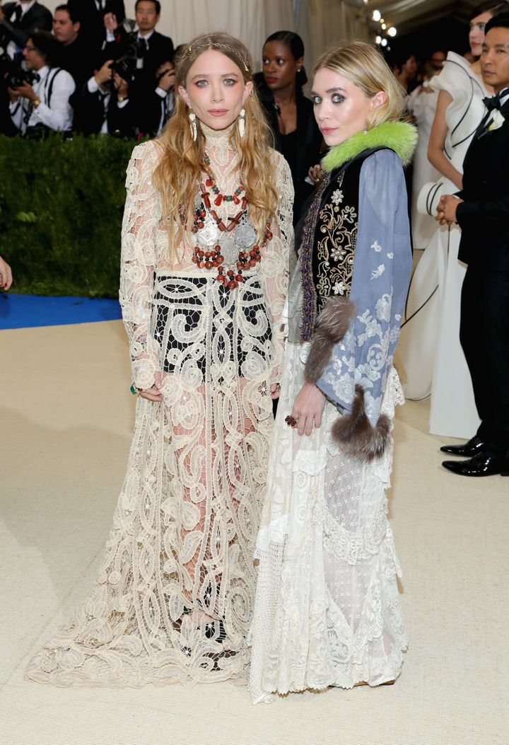 Mary-Kate Olsen and Ashley Olsen attend the 'Rei Kawakubo/Comme des Garcons: Art Of The In-Between' Costume Institute Gala on May 1 in New York City.
