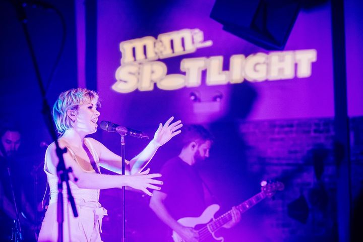 Carly Rae Jepsen performs at M&M's Spotlight series pop up concert in Chicago.