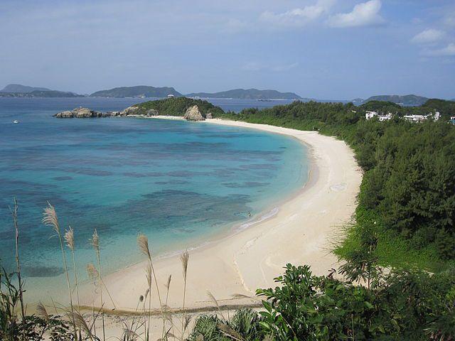 Okinawan coastline.
