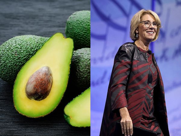 """Education takes a back seat when it comes to avocado. Or at least, the <a href=""""http://www.huffingtonpost.com/topic/betsy-dev"""