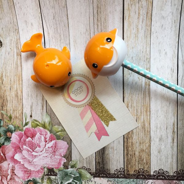 "$1.76, The Pensnickety Co. <a href=""https://www.etsy.com/listing/460978326/whale-pencil-sharpener-orange"" target=""_blank"">Buy"