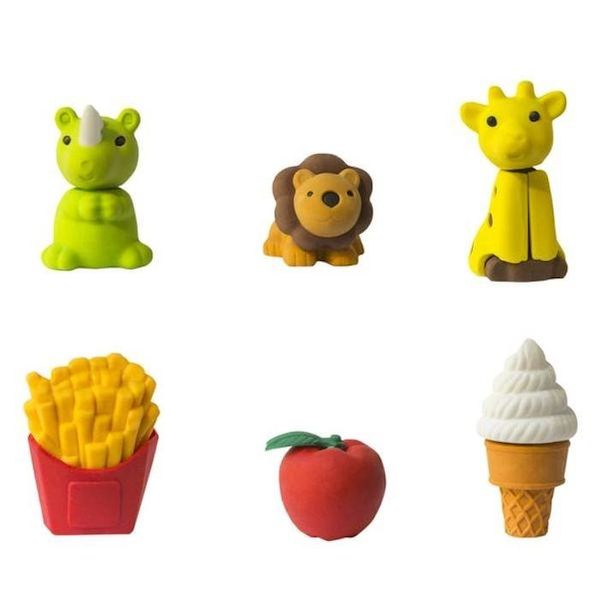 "$2.99, Yoobi. <a href=""https://yoobi.com/collections/erasers/products/3d-erasers-animal-and-food-assorted-6-pk-multicolor"" ta"