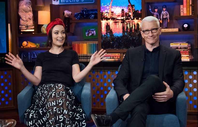 <em>Watch What Happens Live</em> guests Olivia Wilde and Anderson Cooper