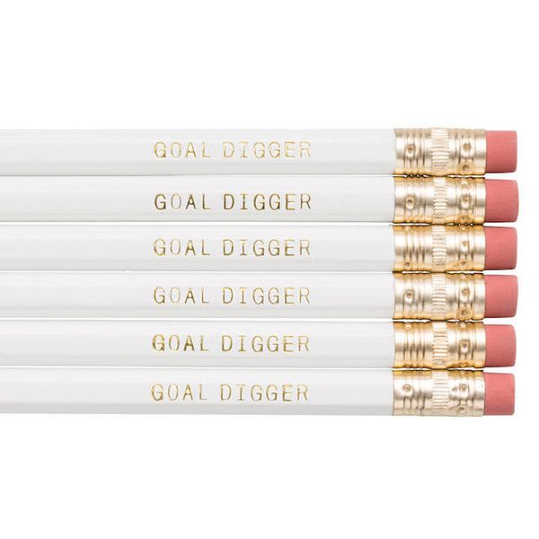 "Prices vary by number of pencils, Frankie and Claude Shop. <a href=""https://www.etsy.com/listing/257123660/goal-digger-pencil"