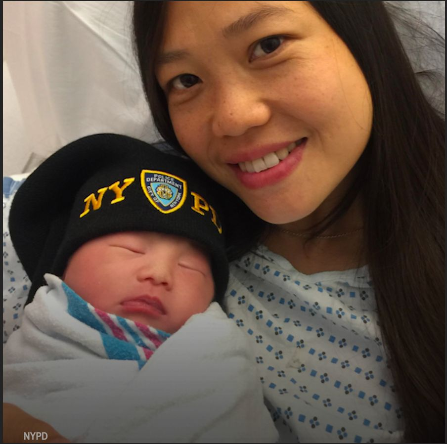 NYPD Officer WenJian Liu has become a father over two years after his death