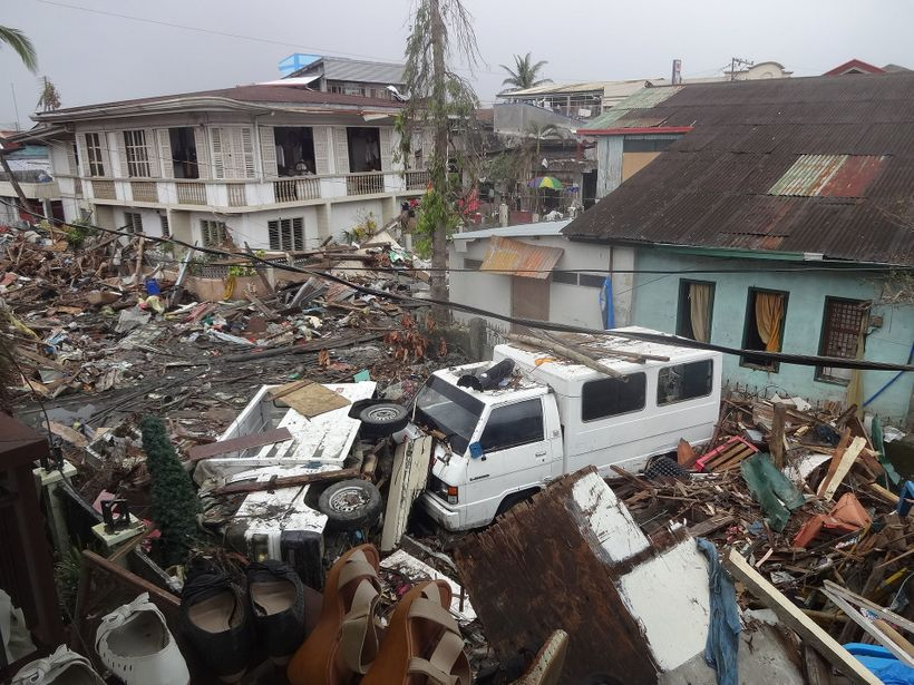Damages in the Philippines after typhoon Yolanda passes through