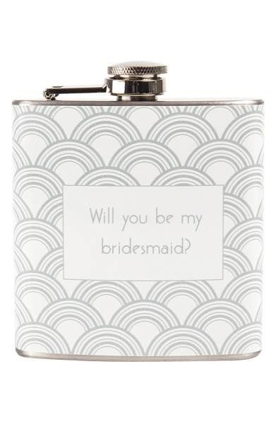 "<a href=""http://shop.nordstrom.com/s/cathys-concepts-will-you-be-my-bridesmaid-print-flask/4332781?origin=keywordsearch-perso"