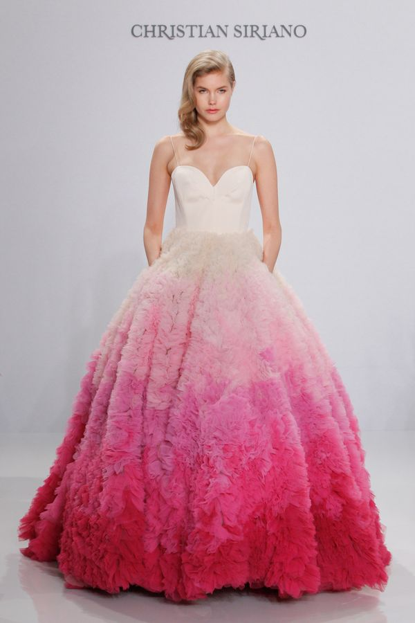 "<i>Dress by <a href=""http://www.christiansiriano.com/bridal16.php"" target=""_blank"">Christian Siriano </a></i>"